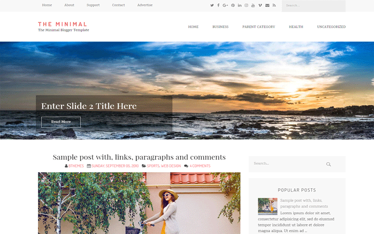 The Minimal Magazine Responsive Blogger Template