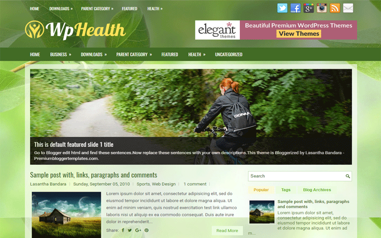 WpHealth Elegant Clean Responsive Blogger Template
