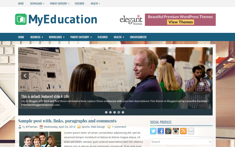 MyEducation Premium Responsive Blogger Template
