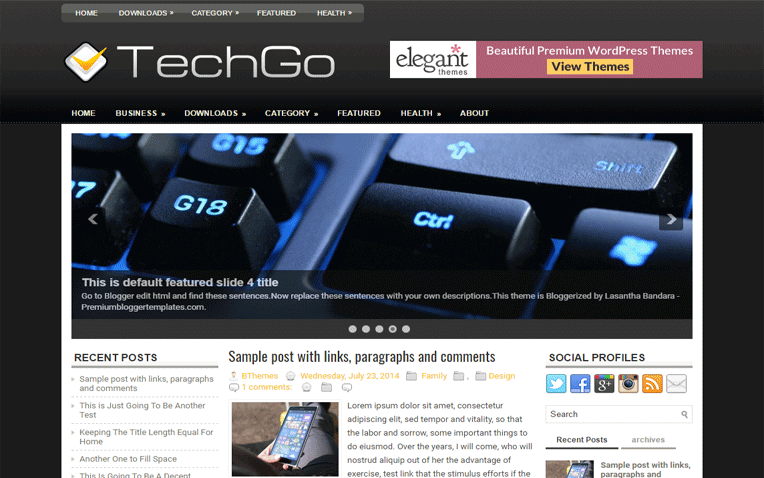 TechGo Mobile Friendly Amazing Blogger Template