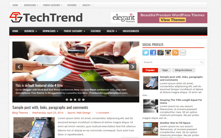 TechTrend Personal Responsive Blogger Template