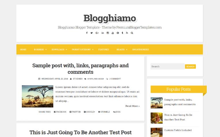 Blogghiamo Amazing Responsive Blogger Template