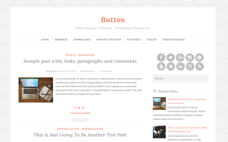 Button Simple Clean Responsive Blogger Template