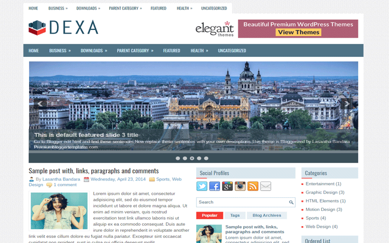 Dexa Personal Clean Responsive Blogger Template