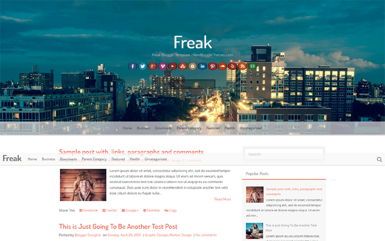 Freak Simple Clean Responsive Blogger Template