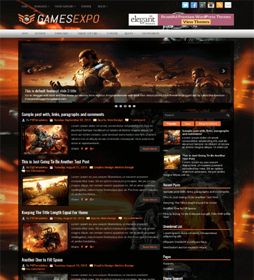 Games Blogger Templates Free Download