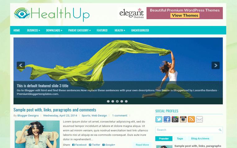 HealthUp Magazine Responsive Blogger Template