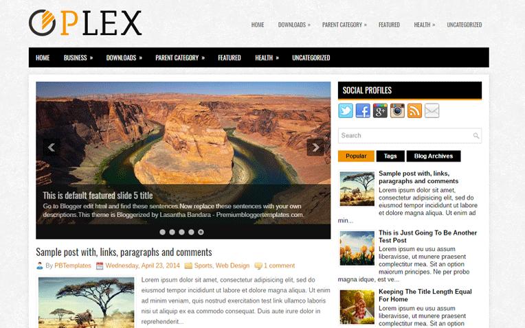 Plex Simple Modern Responsive Blogger Template