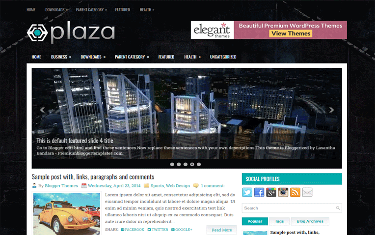 Plaza Creative Personal Responsive Blogger Template