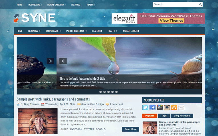 Syne 2 Columns Clean Responsive Blogger Template