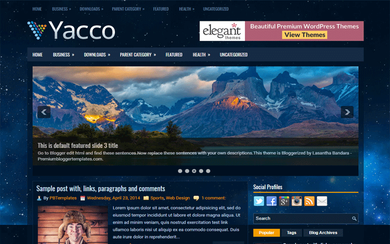Yacco Simple Clean Responsive Blogger Template