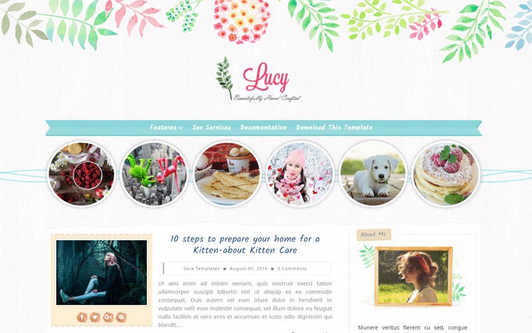 Lucy Beauty Responsive Simple Blogger Template