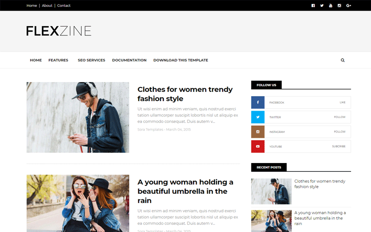 FlexZine Simple Amazing Responsive Blogger Template