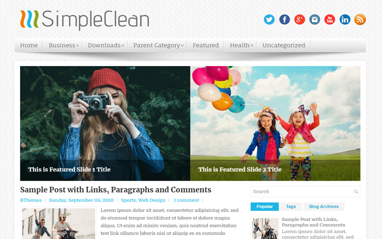 SimpleClean Amazing Responsive Blogger Template