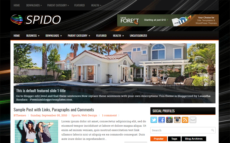 Spido Amazing Clean Responsive Blogger Template