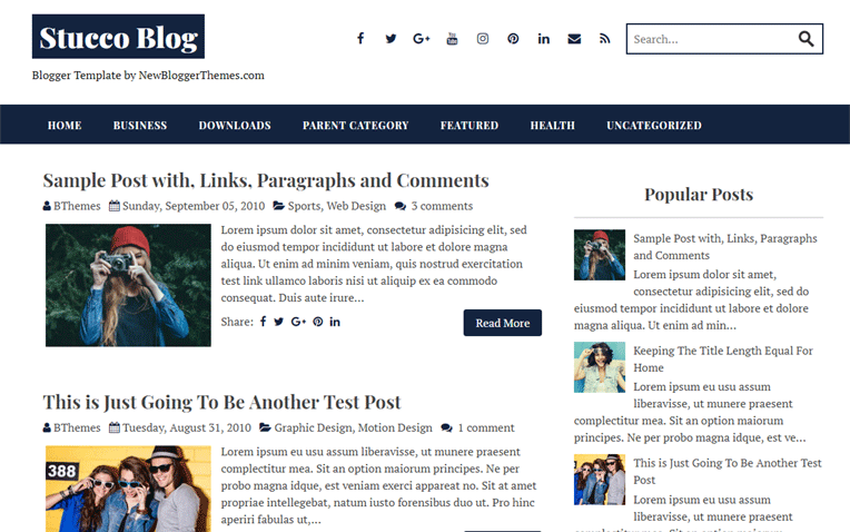Stucco Simple Clean Responsive Blogger Template