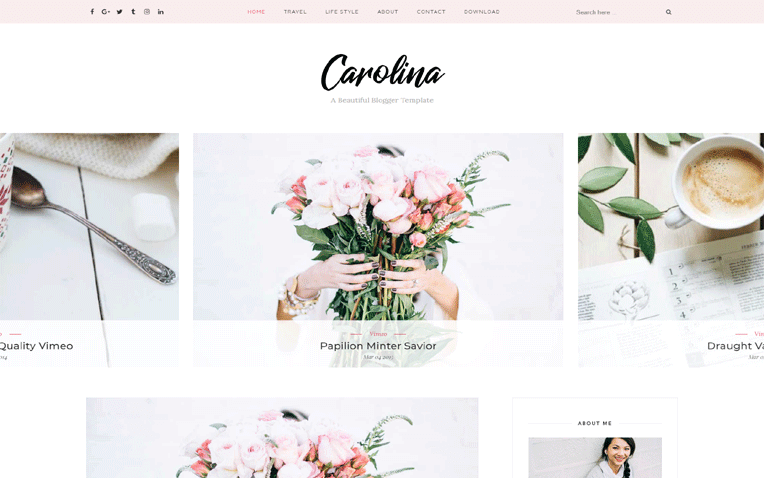 Carolina Magazine Responsive Blogger Template
