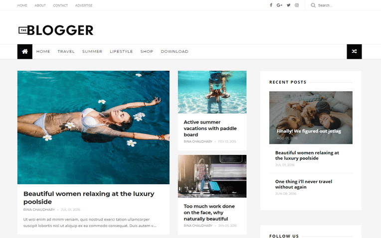 TheBlogger Magazine Responsive Blogger Template