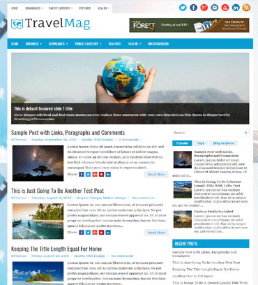 Business blogger templates free download travelmag flashek Image collections