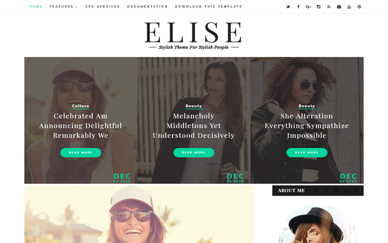 Elise Simple Amazing Responsive Blogger Template