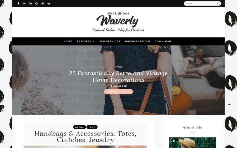Waverly Simple Personal Responsive Blogger Template