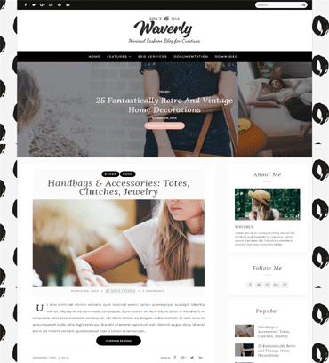 Business blogger templates free download httpstemplatelibwp contentuploads2018 view template wajeb Images