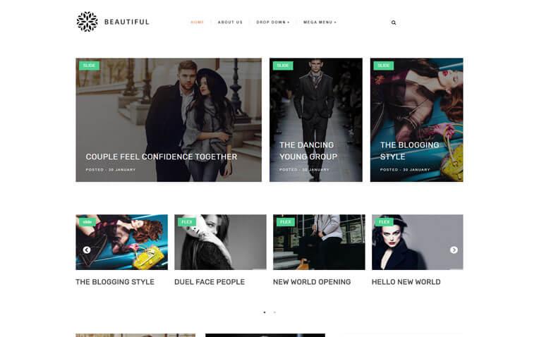 Beautiful Premium Personal Blogger Template