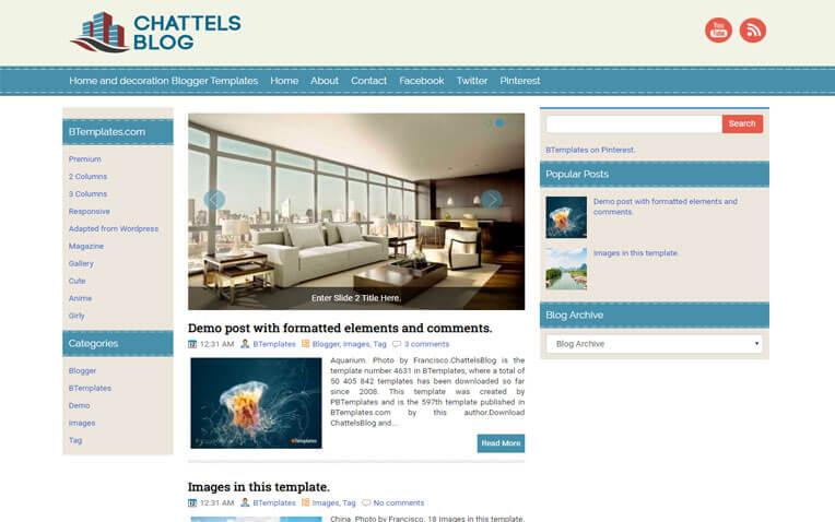 ChattelsBlog Fashion Responsive Blogger Template