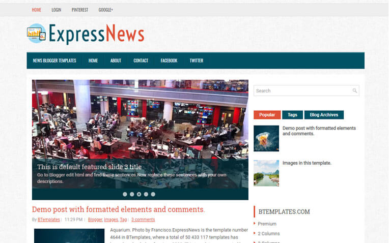 ExpressNews Responsive Blogger Template