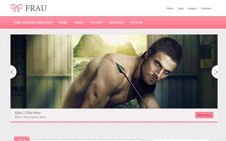 Frau Girly Professional Responsive Blogger Template