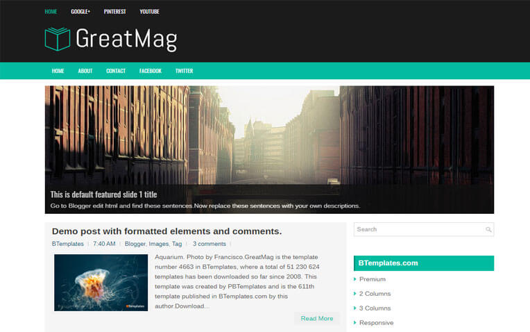 GreatMag Business Responsive Blogger Template