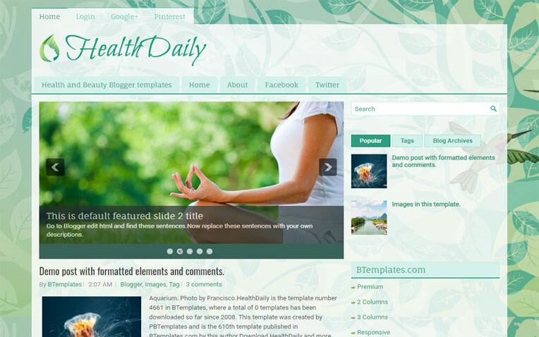 HealthDaily Responsive Blogger Template