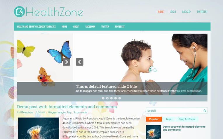 HealthZone Educational Responsive Blogger Template