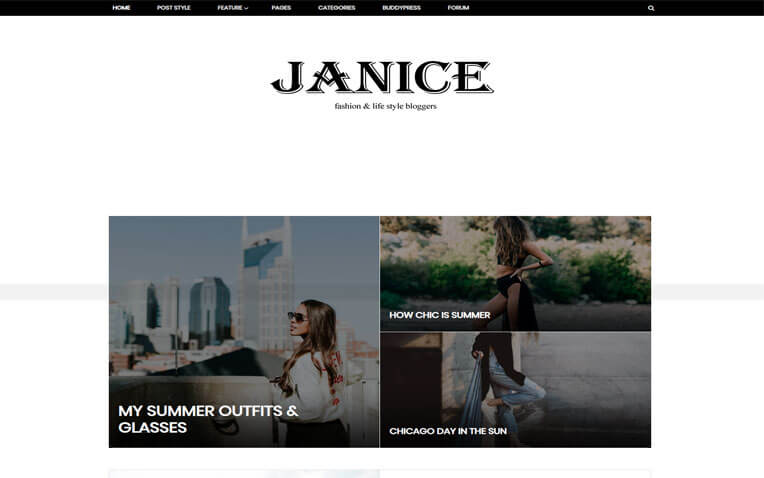 Janice Fashion Responsive Blogger Template