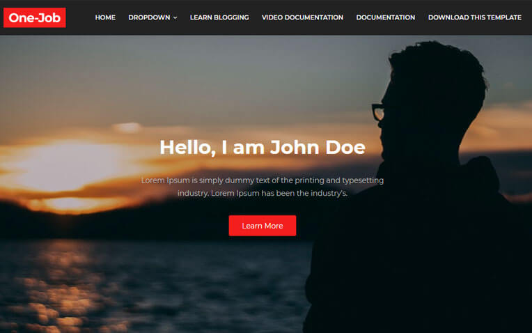 OneJob Professional Portfolio Blogger Template