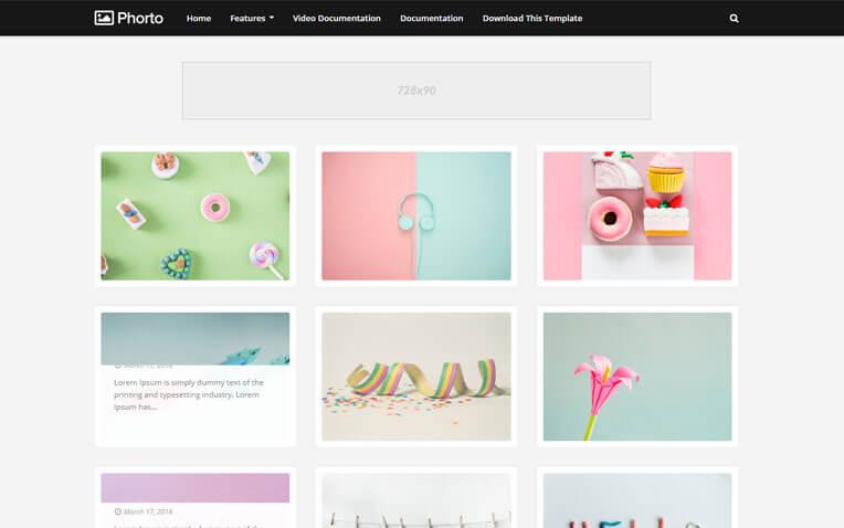 Phorto Multipurpose personal Blogger Template