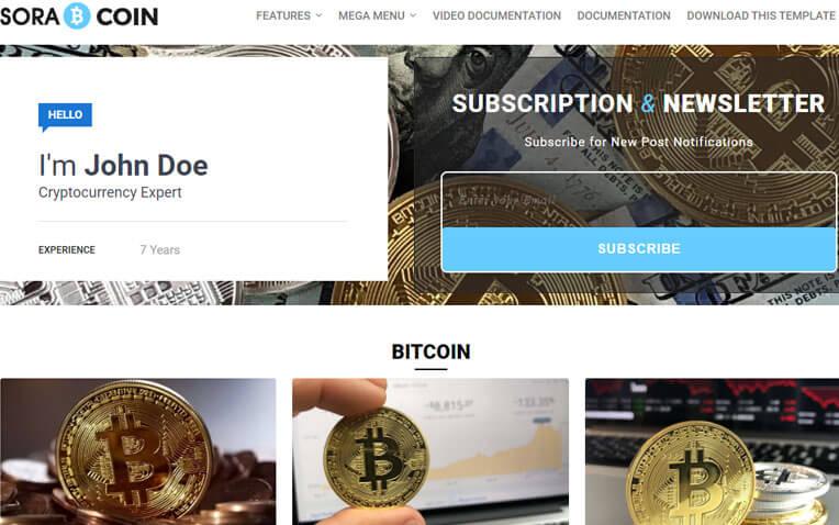 Sora Coin Minimal Responsive Blogger Template
