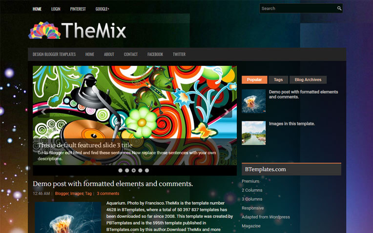 TheMix Gaming  Blogger Template