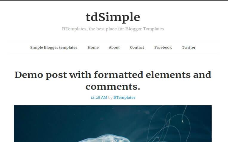 tdSimple Portfolio Responsive Blogger Template