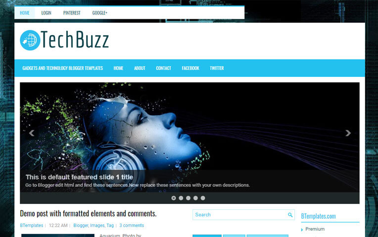 TechBuzz Magazine Styled Responsive Blogger Template