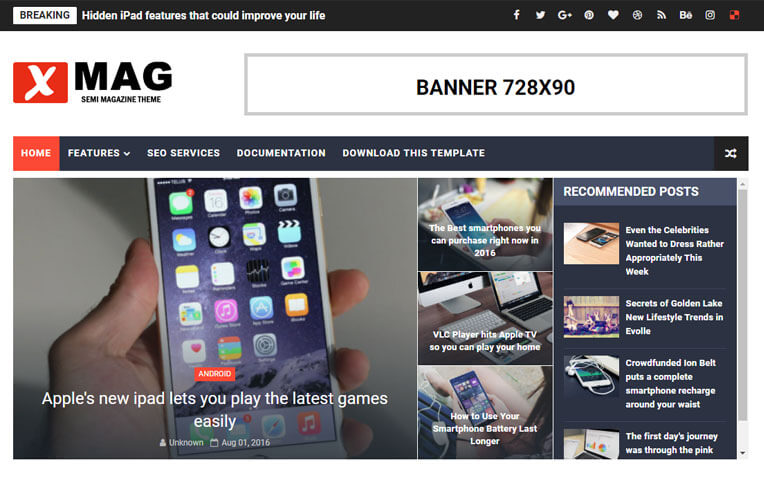 X-Mag Personal Responsive Blogger Template