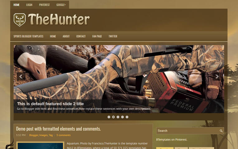 TheHunter Premium Responsive Blogger Template