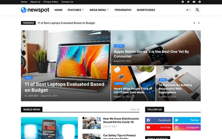 Newspot Responsive Blogger Template